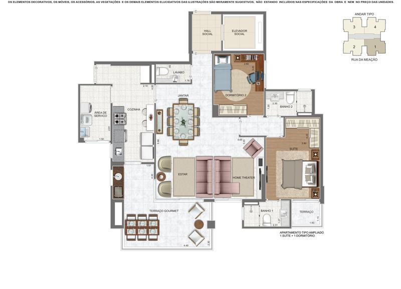 Apartamento tipo (Residencial Málaga)